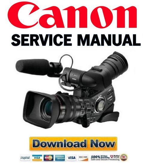 Download Canon xl-h1 pal service manual